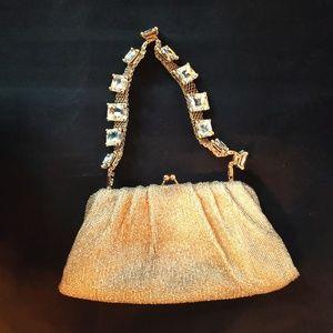 Beaded golden Valentino Shoulder Bag